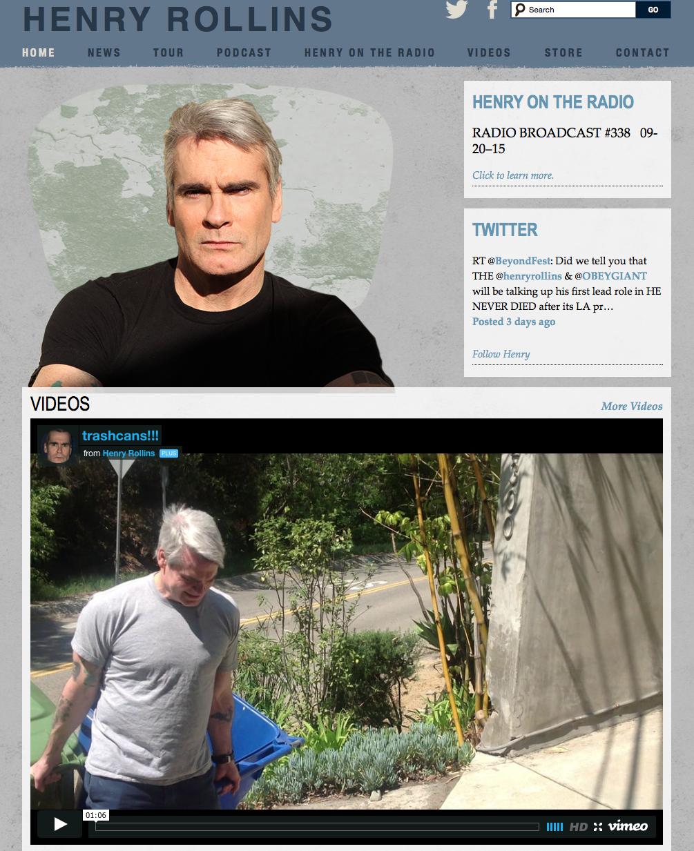 Henry Rollins website